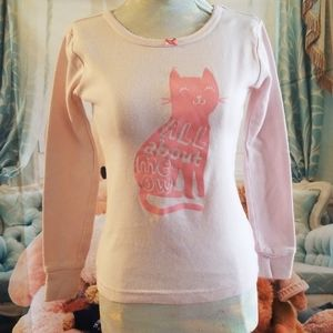 Size 5 Carter's Pink Cat Pajama Top